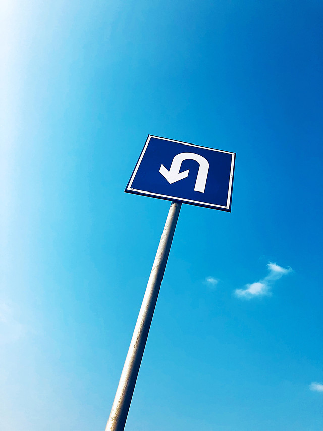 no-person-road-guidance-blue-sky picture material