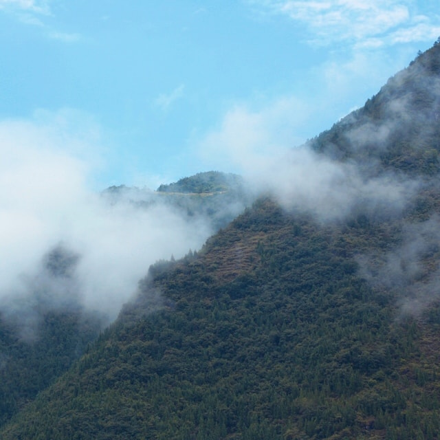 mountain-sky-mist-cloud-fog picture material