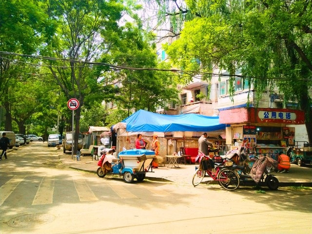 old-military-camp-town-neighbourhood-mode-of-transport-mixed-use picture material