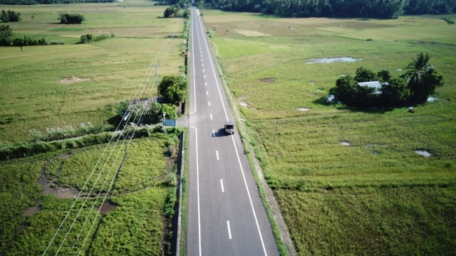aerial-road-jeep-highway-dji picture material