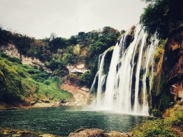 huangguoshu-waterfall-waterfall-body-of-water-natural-landscape-water-resources 图片素材