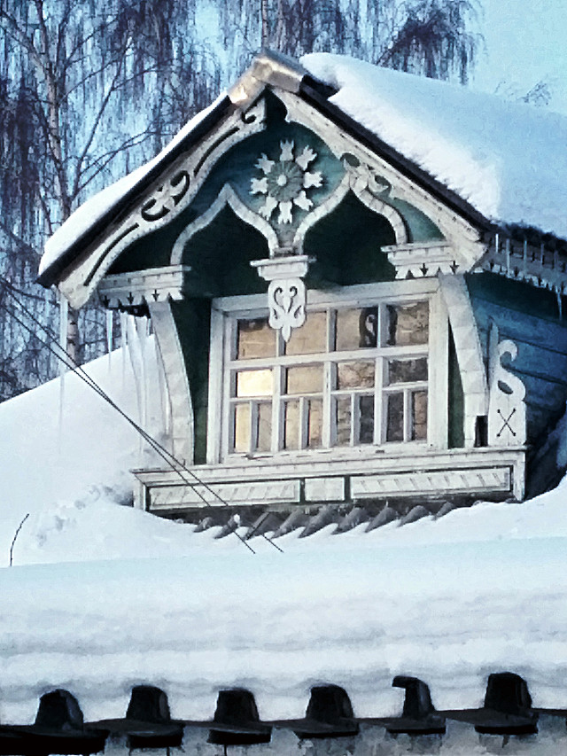 snow-winter-cold-frost-house picture material
