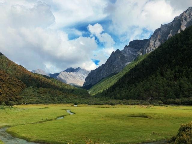mountainous-landforms-highland-mountain-natural-landscape-nature 图片素材