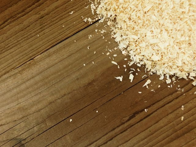 sawdust picture material
