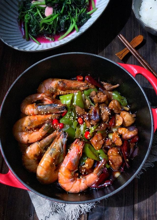 dish-food-cuisine-vegetable-shrimp-chicken 图片素材