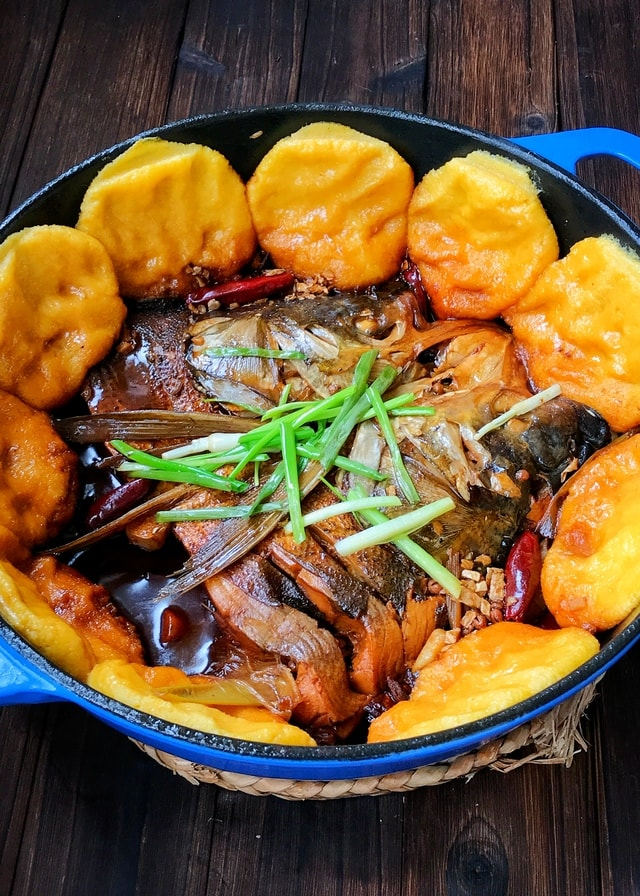 food-dish-cuisine-meal-wok-stewed-fish picture material