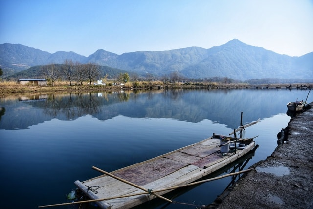 water-reflection-lake-sky-mountain picture material