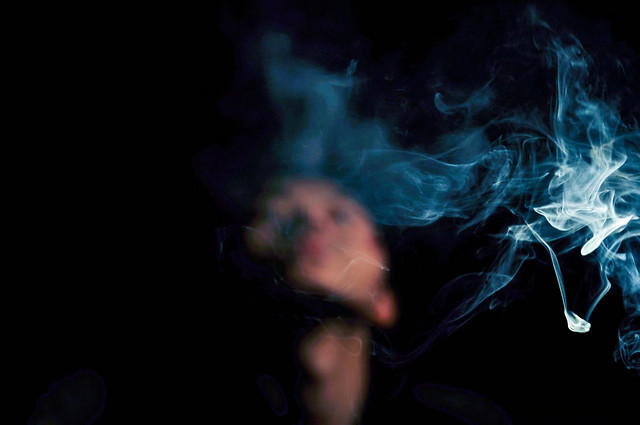 smoke-concert-dark-blue-music picture material