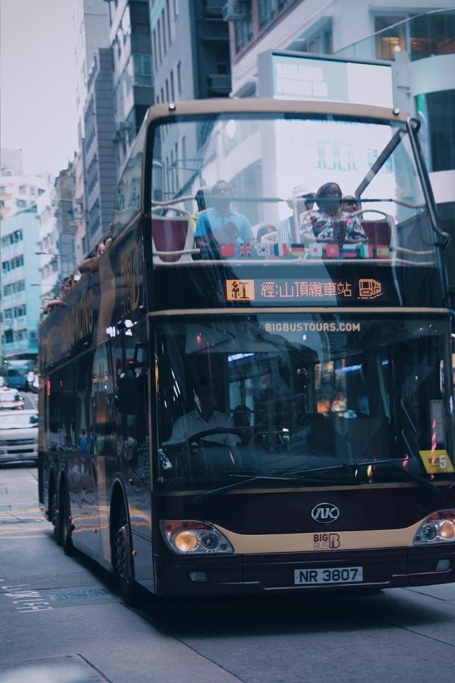 hong-kong-double-decker-bus-transport-mode-of-transport-bus 图片素材