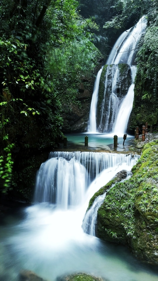 waterfall-water-resources-body-of-water-natural-landscape-nature 图片素材