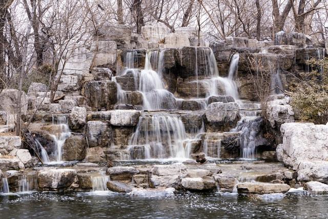 long-exposure-beijing-zoo-body-of-water-natural-landscape-waterfall 图片素材