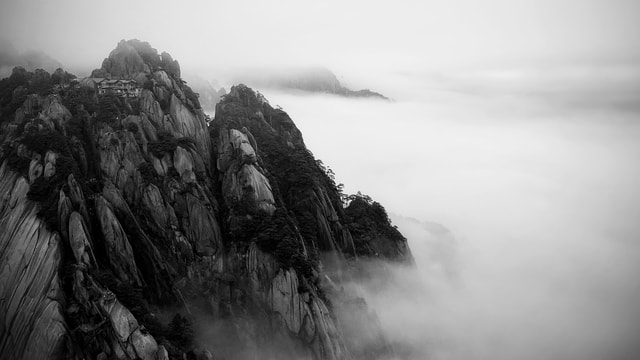 ink-huangshan picture material
