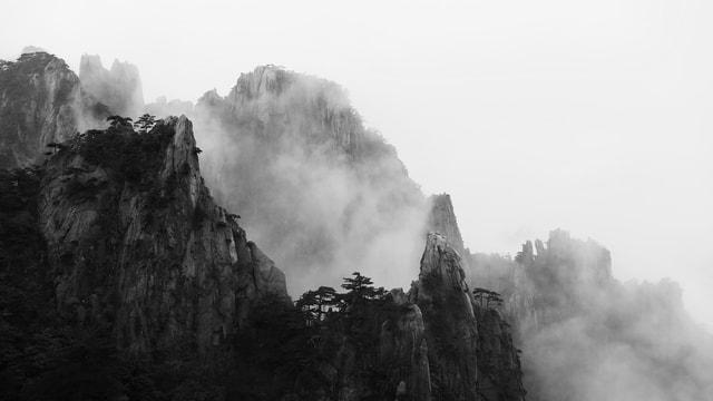cloud-natural-mountain-range-huangshan-asia picture material