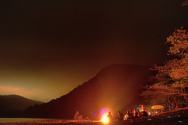 luau-at-the-beach-in-brazil picture material