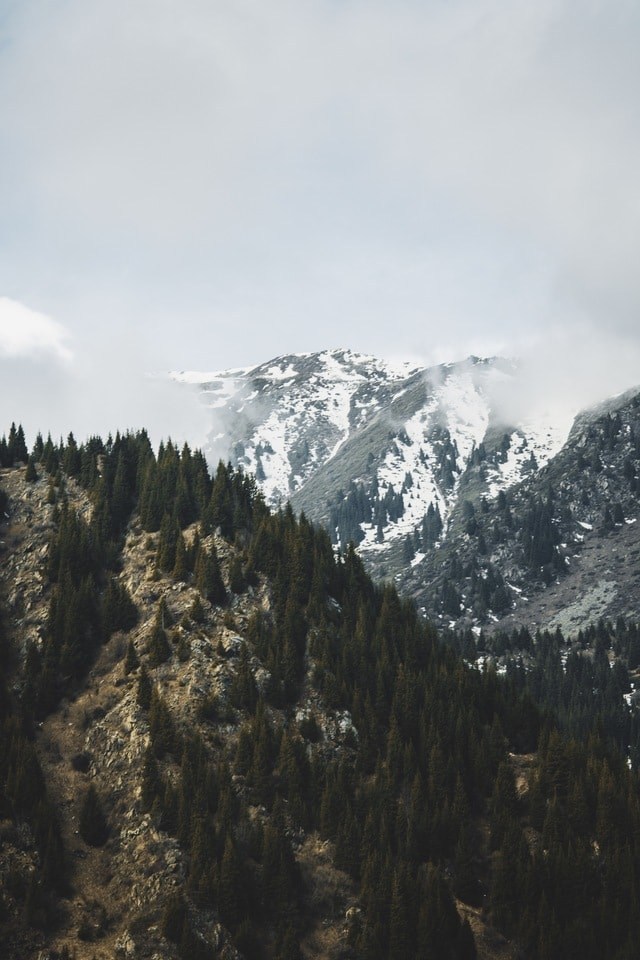 big-lake-almaty-in-winter-season-april-2019 picture material