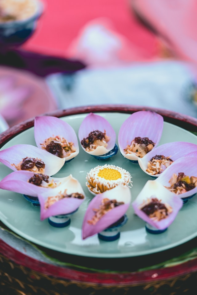 thai-traditional-snacks-made-from-lotus-leaf-on-the-coronation-of-rama-x-king-event picture material