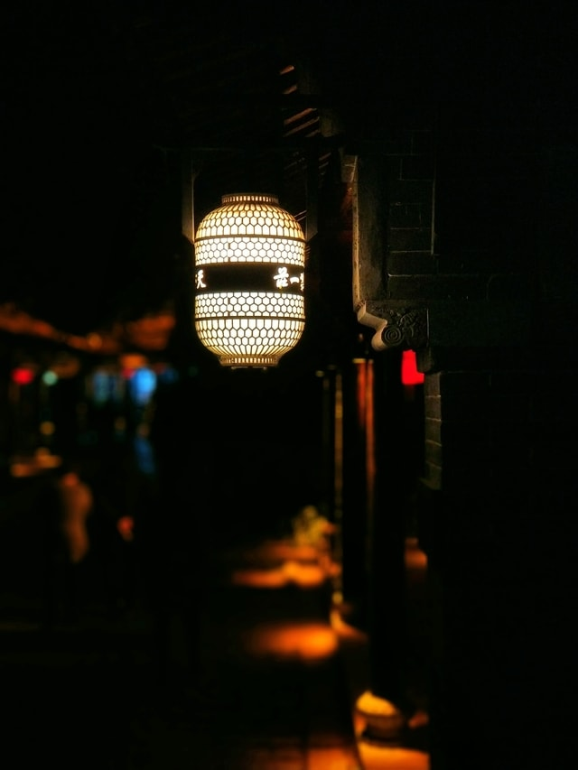 light-lantern-lamp-mobile-photography-taierzhuang-ancient-city picture material