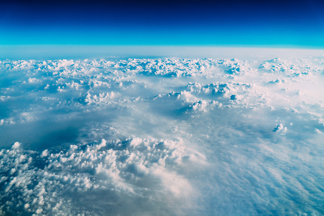 beautiful-aerial-view-of-earth-clouds-blue-horizon picture material