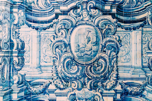 beautiful-ceramic-wall-texture-pattern-or-azulejos-in-lisbon-portugal picture material