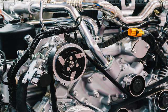 truck-engine-motor-components-in-car-service-inspection picture material