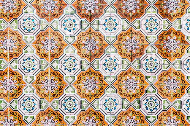 beautiful-ceramic-wall-texture-pattern-in-lisbon-portugal picture material