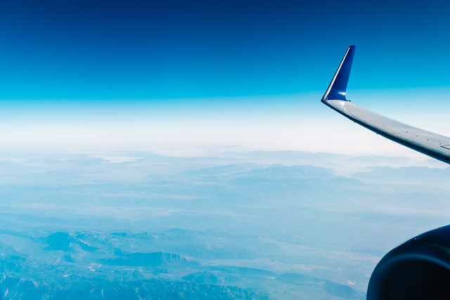 airplane-wing-view-above-the-clouds picture material