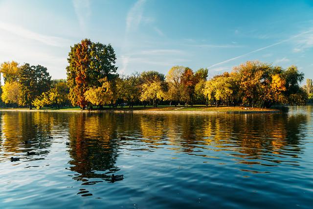 autumn-season-in-bucharest-park-landscape picture material