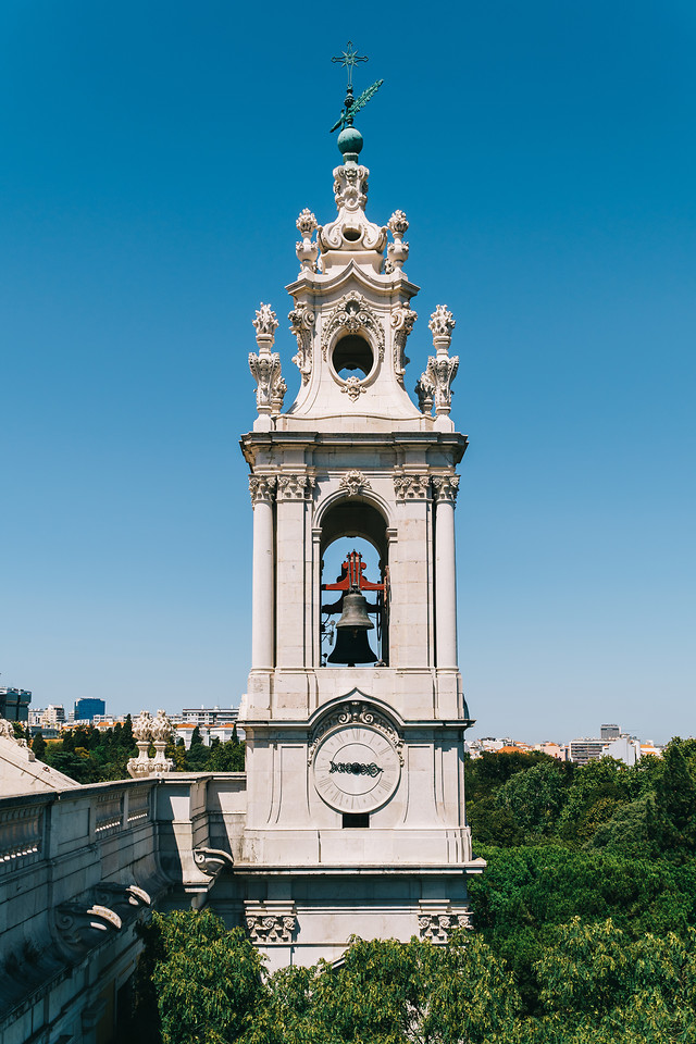 estrela-basilica-(royal-basilica-convent-of-the-most-sacred-heart-of-jesus)-bell-tower-in-lisbon picture material