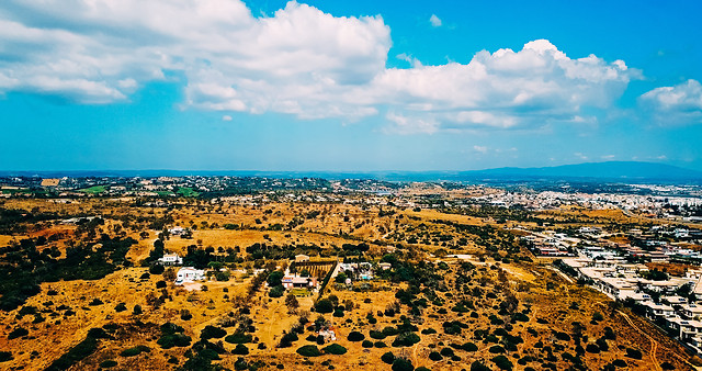 aerial-drone-view-of-arid-cliff-in-lagos-portugal picture material