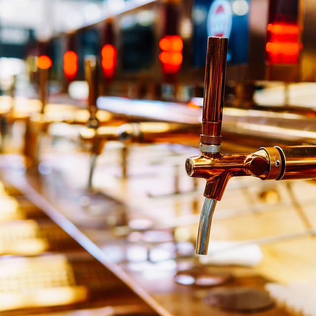 beer-tap-closeup-in-drinks-bar picture material
