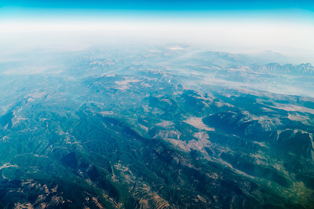 aerial-view-of-planet-earth-green-mountains-landscape 图片素材