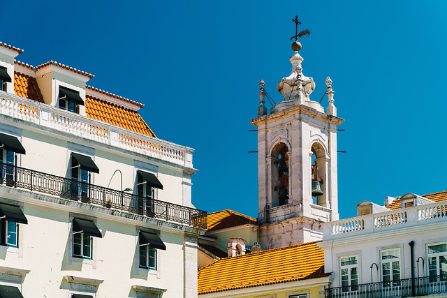 church-tower-building-in-lisbon-portugal picture material