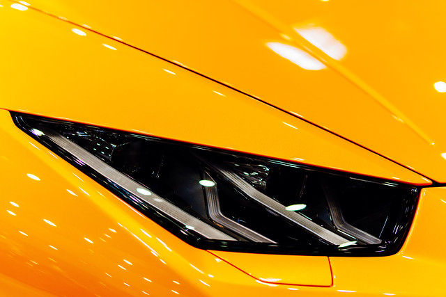 head-lights-of-luxurious-sports-car picture material
