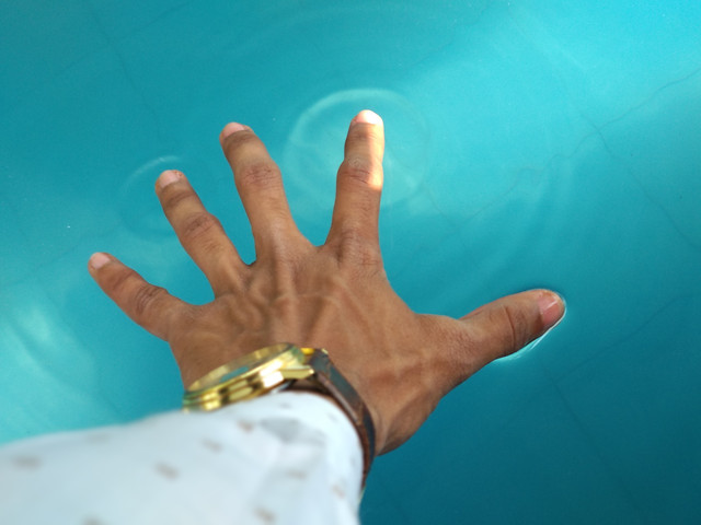hand-blue-people-finger-one picture material