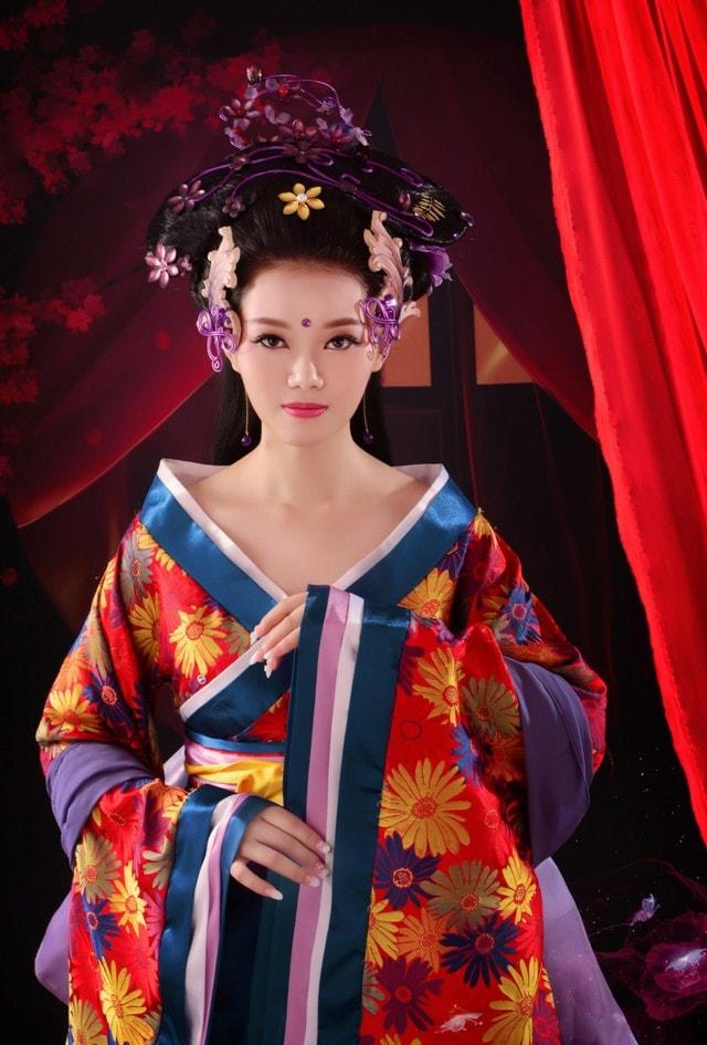 woman-geisha-kimono-fashion-costume picture material