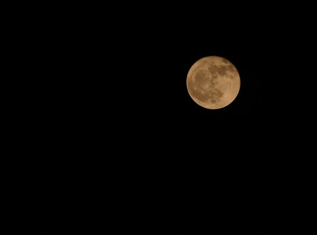 moon-sky-full-moon-midnight-space picture material
