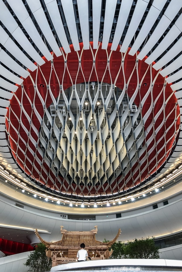 hong-kong-drama-center-ceiling-drama-architecture picture material