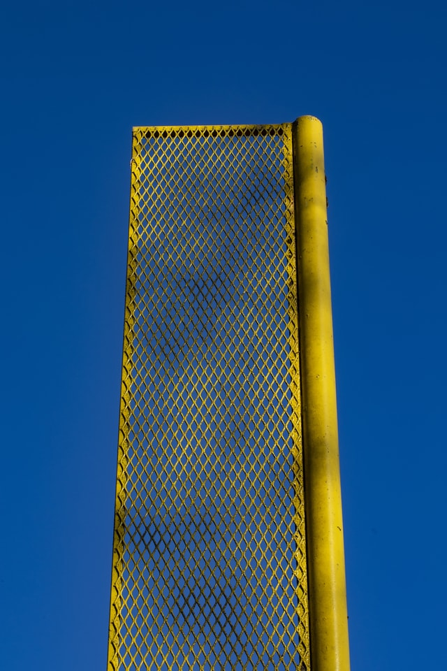 foul-pole-against-blue-sky picture material