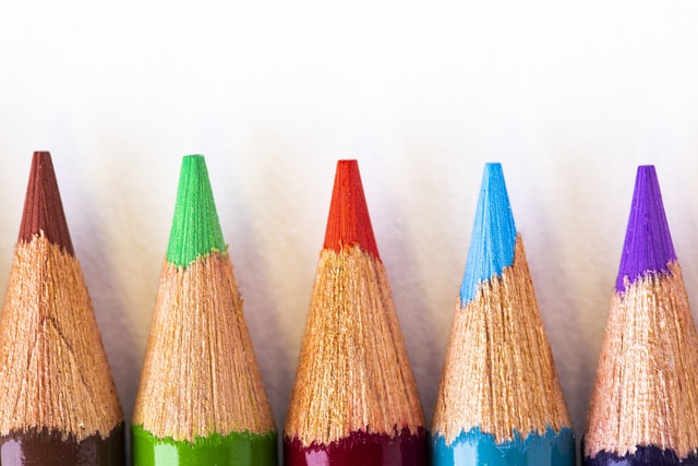 colorful-pencil-points picture material
