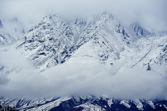 mountain-winter-snow-sky-ice 图片素材
