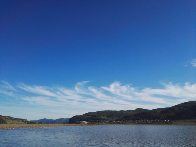 the-sky-of-the-hometown-reservoir picture material