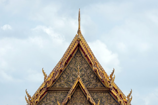 roof-of-buddhist-temple picture material