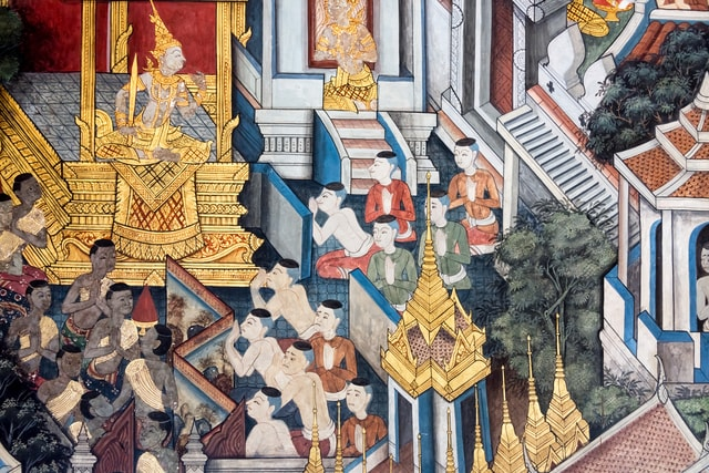 religious-painting-in-buddhist-temple picture material
