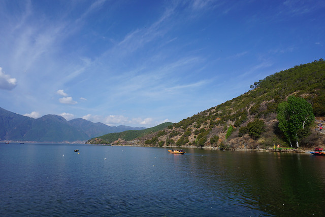 泸沽湖 picture material
