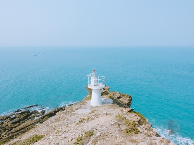 sea-sky-lighthouse-ocean-seashore picture material