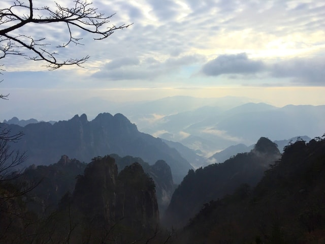 scenery-huangshan-sky-mountainous-landforms-mountain picture material