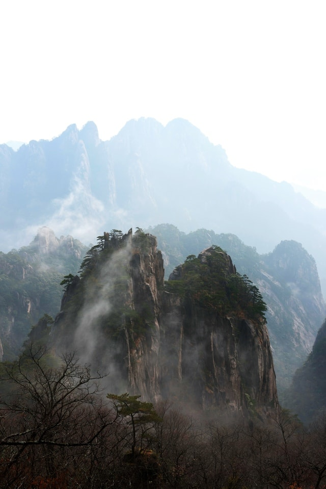 scenery-huangshan-mountainous-landforms-mountain-sky picture material