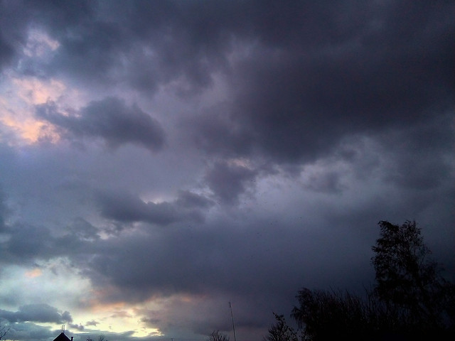 sunset-sky-sun-storm-nature picture material