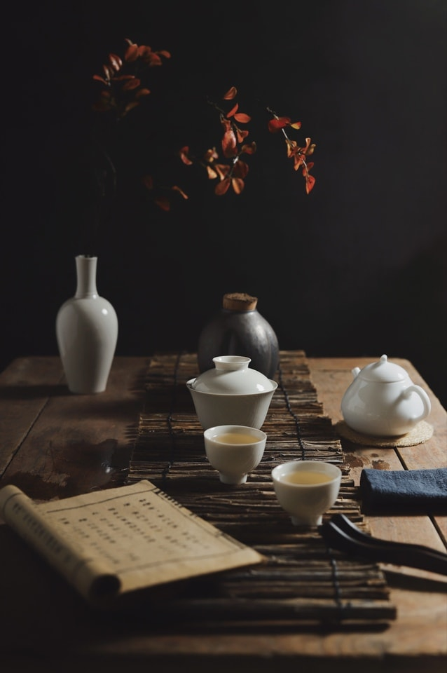 light-and-shadow-good-years-tea-ceremony-tea-set-record-life picture material