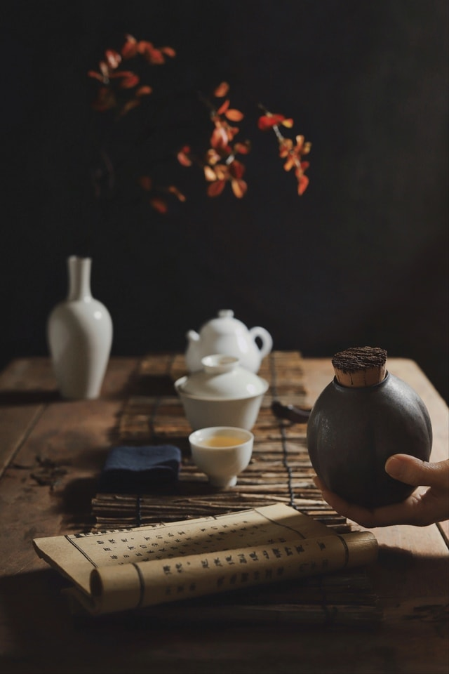 cup-light-and-shadow-good-years-tea-ceremony-tea-set picture material